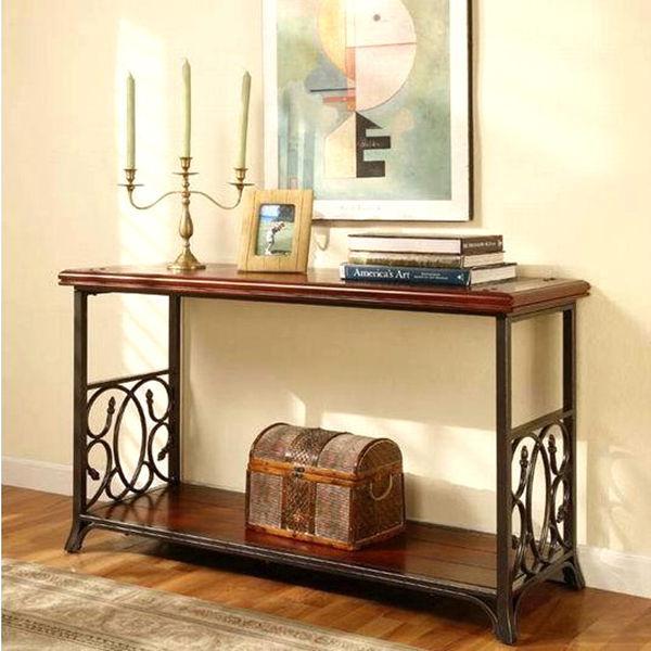 meubles de pays d 39 am rique table de la console en fer forg en bois massif porte d 39 entr e hall. Black Bedroom Furniture Sets. Home Design Ideas