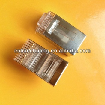Ftp Rj50 10p10c Plug Shielded 10 Pin Connector With Metal Shell - Buy Rj50  10p10c Plug,Rj48 10p10c Plug,10 Pin Rj45 Connector Product on Alibaba com