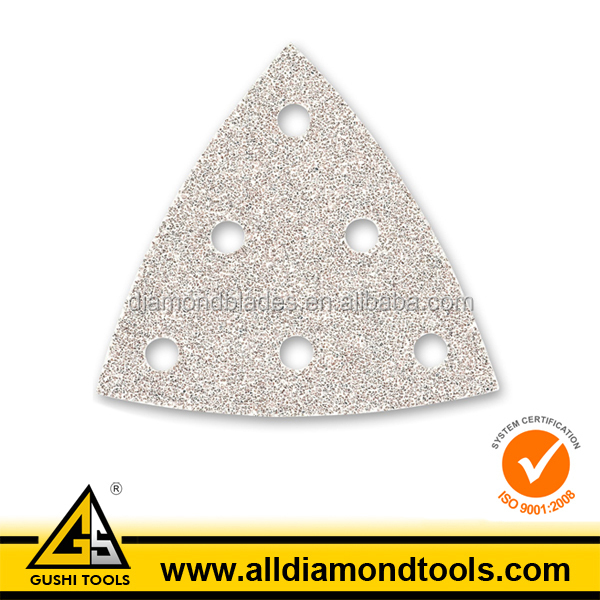 Triangular Velcro Sanding Discs Pad for Metal
