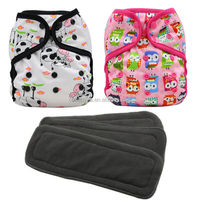 Ohbabuka Bamboo Insert Snaps On Double Gusset Diaper Covers
