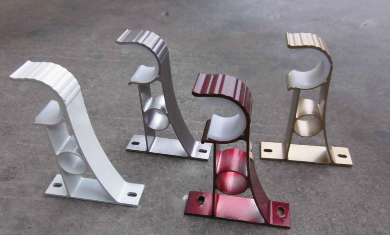 Soporte para 28mm tubo de aluminio postes railes y - Soportes adhesivos para cortinas ...