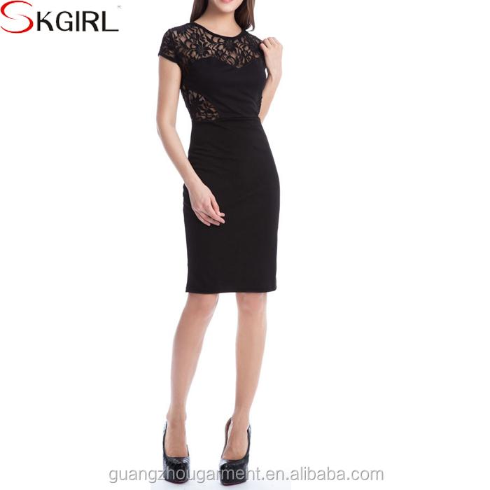 873f26ed0d63 Wholesale elegant beautiful sexy mature women office lace knee length  cocktail dresses