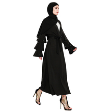 Fashion Islamic Muslim Pearl Clothing Dress 2018 Long Coat Abaya