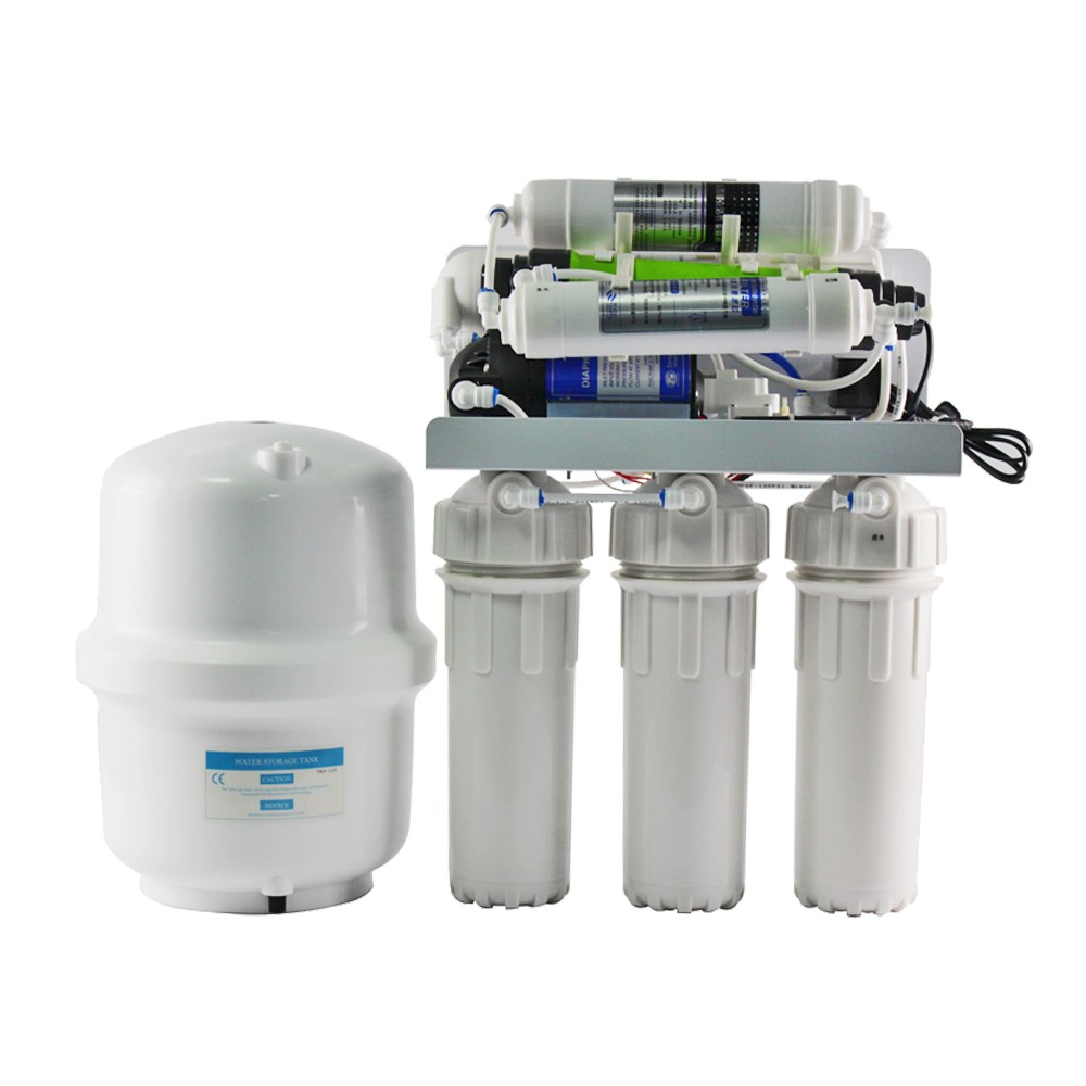 OEM 7 Stages Under Sink UV Sterilizer Water Purifier Alkaline Mineral Water RO <strong>System</strong>