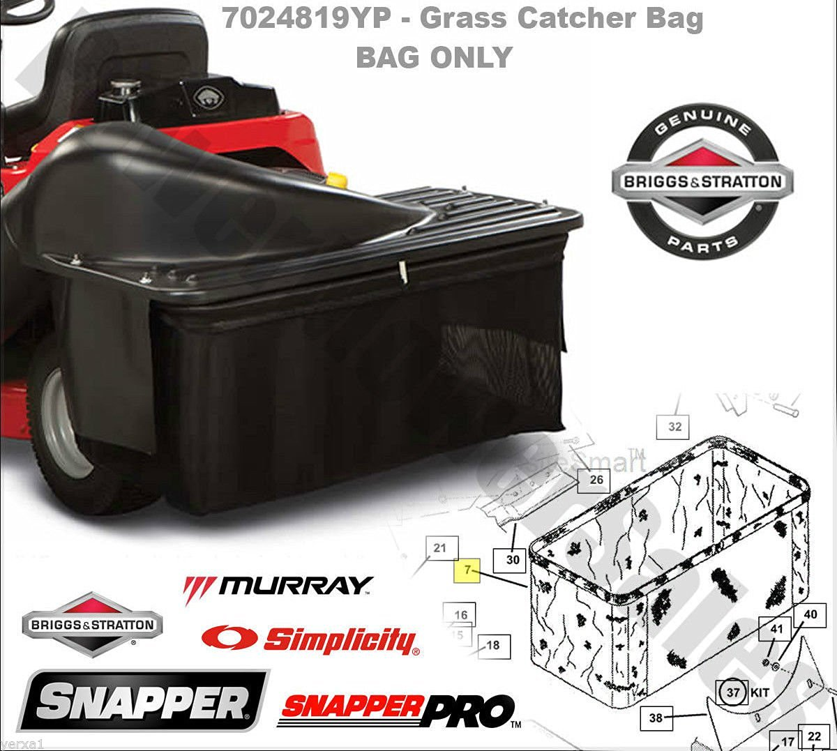 Get Quotations Usa Warehouse Sner Rear Engine Rider Grass Catcher Bag Single Collection System