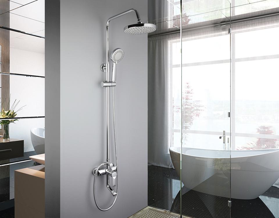 Parete Vasca Da Bagno : Frap bagno doccia a pioggia rubinetto set miscelatore rubinetto con