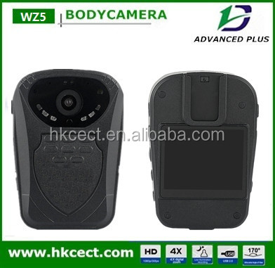 Real time transmission 1920*1080p wireless 2000mAH Lithium-ion Battery 2police body worn camera