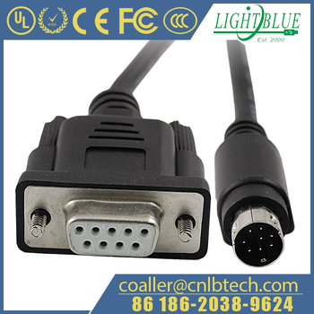 D Sub 9 Rs232 Db9 Pin Female To Mini Din 8 Pin Male Cable