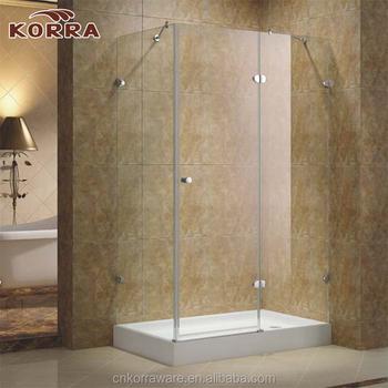 Corner Chrome Silver Profile Hinge Shower Enclosure Glass Shower ...