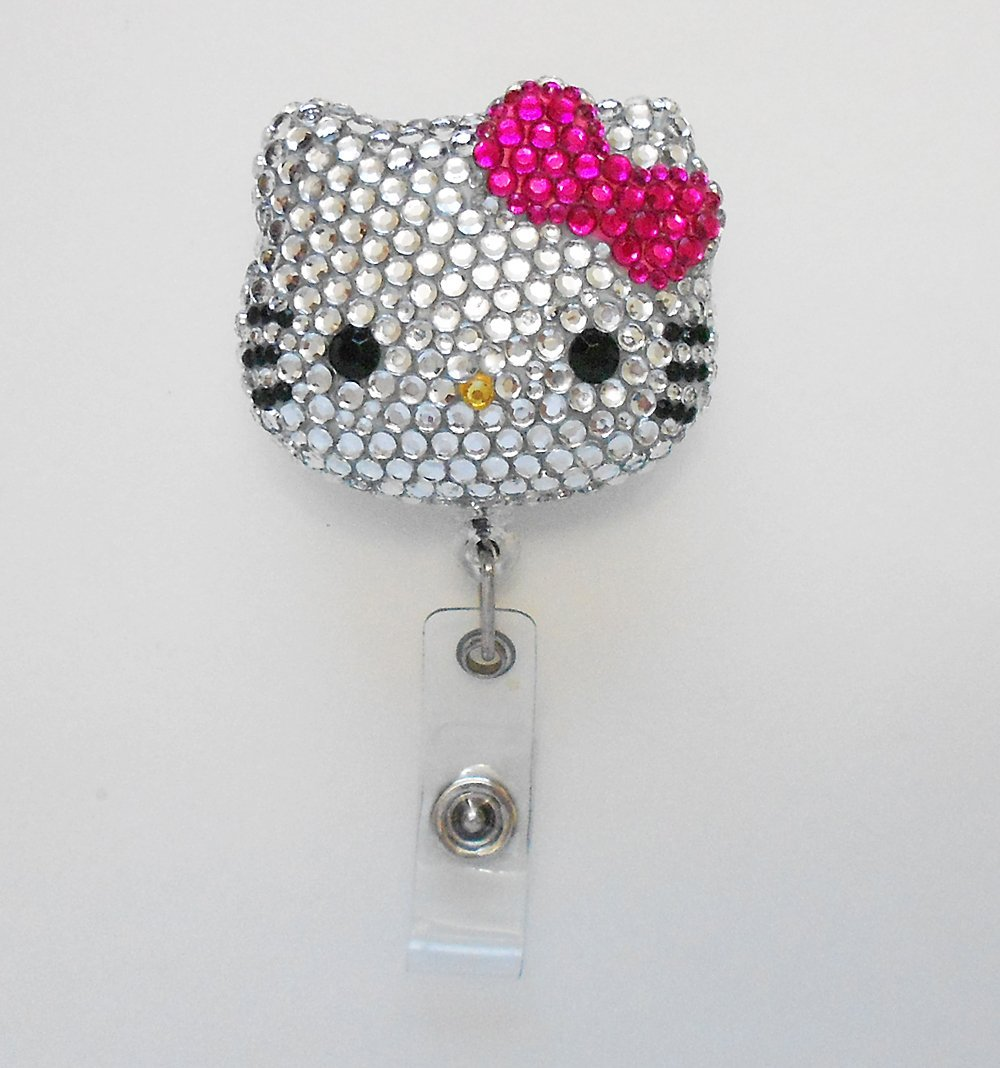 254182c0ff6d Buy LOVEKITTY - 3D Blinged Out Fuchsia Bow Hello Kitty Inspired Rhinestone  Badge Reel   Name Badges   ID Badge Holder in Cheap Price on m.alibaba.com
