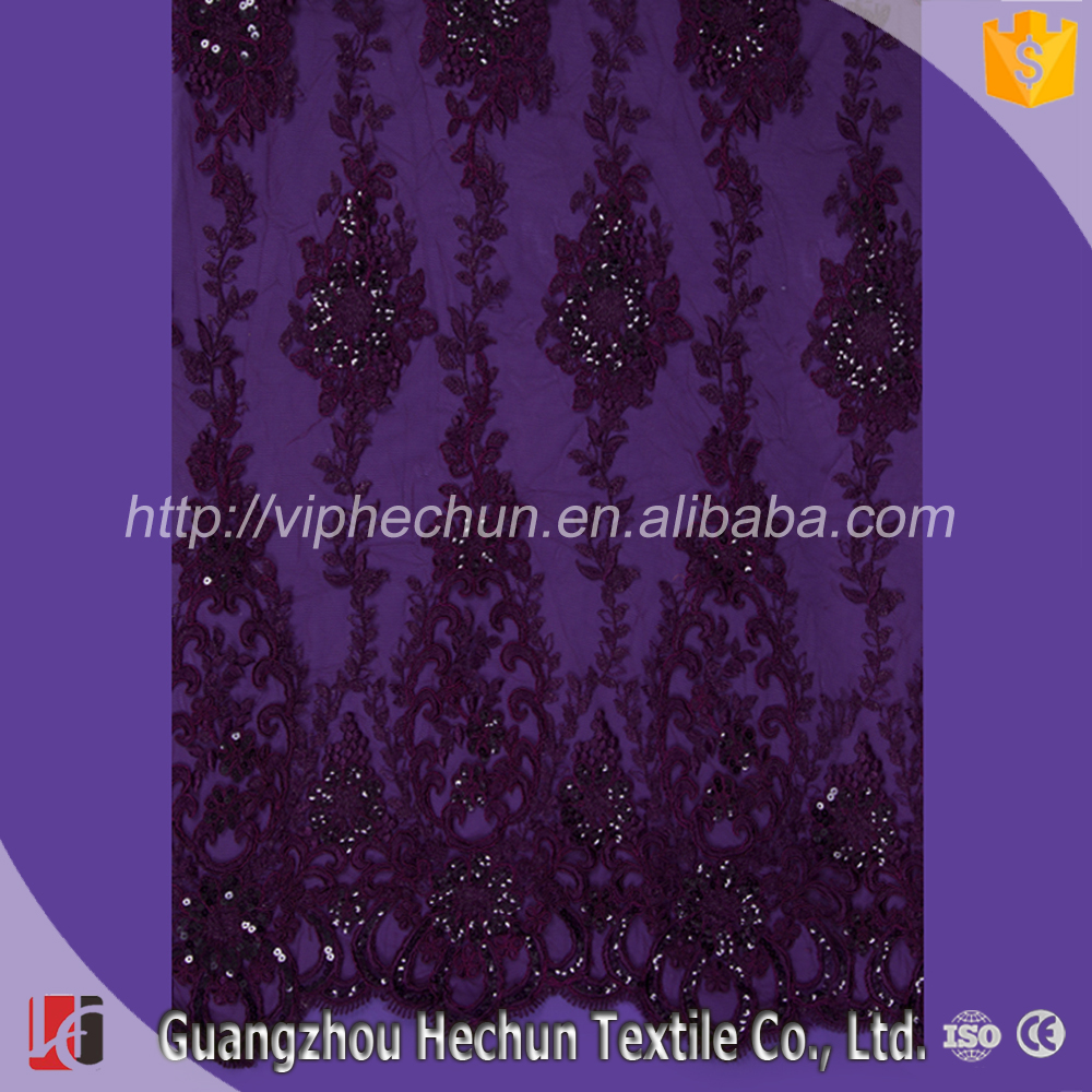 WHF-341-1Hechun factory wholesale pink without bead guipure lace fabric