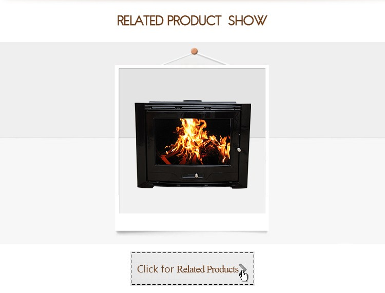 25kw Classic Design Large Size Wood Burning Cast Iron Fireplace Insert Hearth HF577iU3 Black