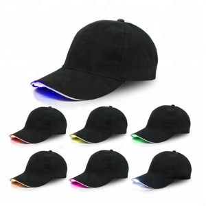 2018 Spotlight night fishing led hat with 5 led light fashion black color with custom embroidery logo