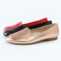 Slip-On ballerina flats for ladies womens ballerina PU shoes