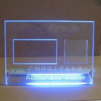 Table Sign Acrylic Sign Led Edge Lit Sign Base Plexiglass