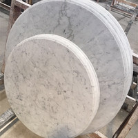 Hot selling white round marble slab table top