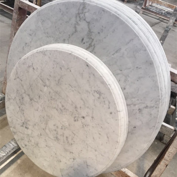 Charmant Hot Selling White Round Marble Slab Table Top