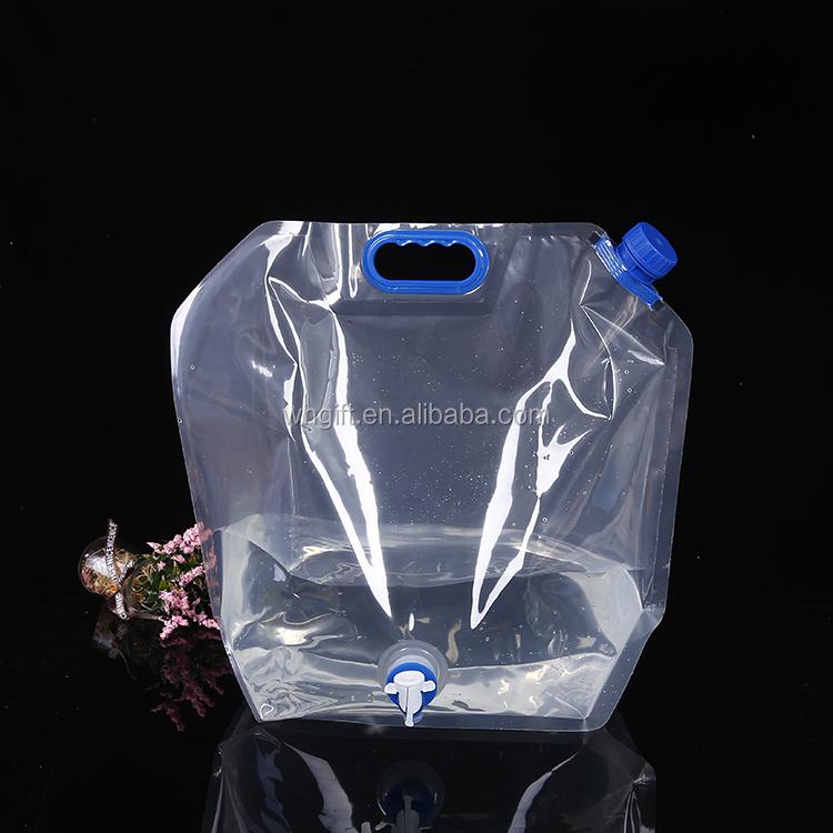 बाहर डेरा डाले हुए लंबी पैदल यात्रा हल्के बंधनेवाला पानी की थैली बाल्टी तह पीने पानी भंडारण बैग