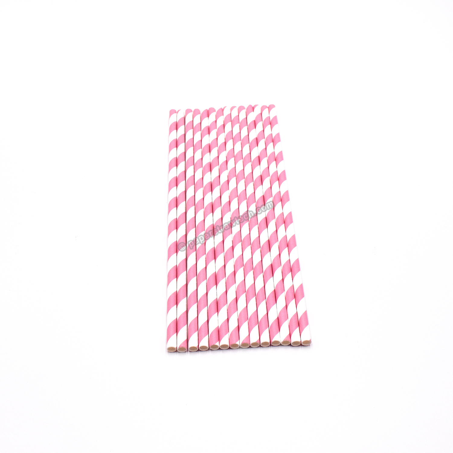 Extra Long Pink Stripe Paper Drinking Straws 240x6mm Pink Striped Jumbo