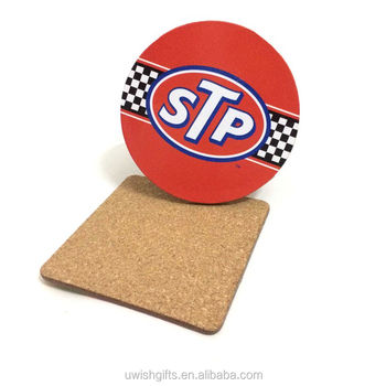 Wholesale round shape restaurant cup mat with your logo, wedding gifts mdf wood coasters sets custom