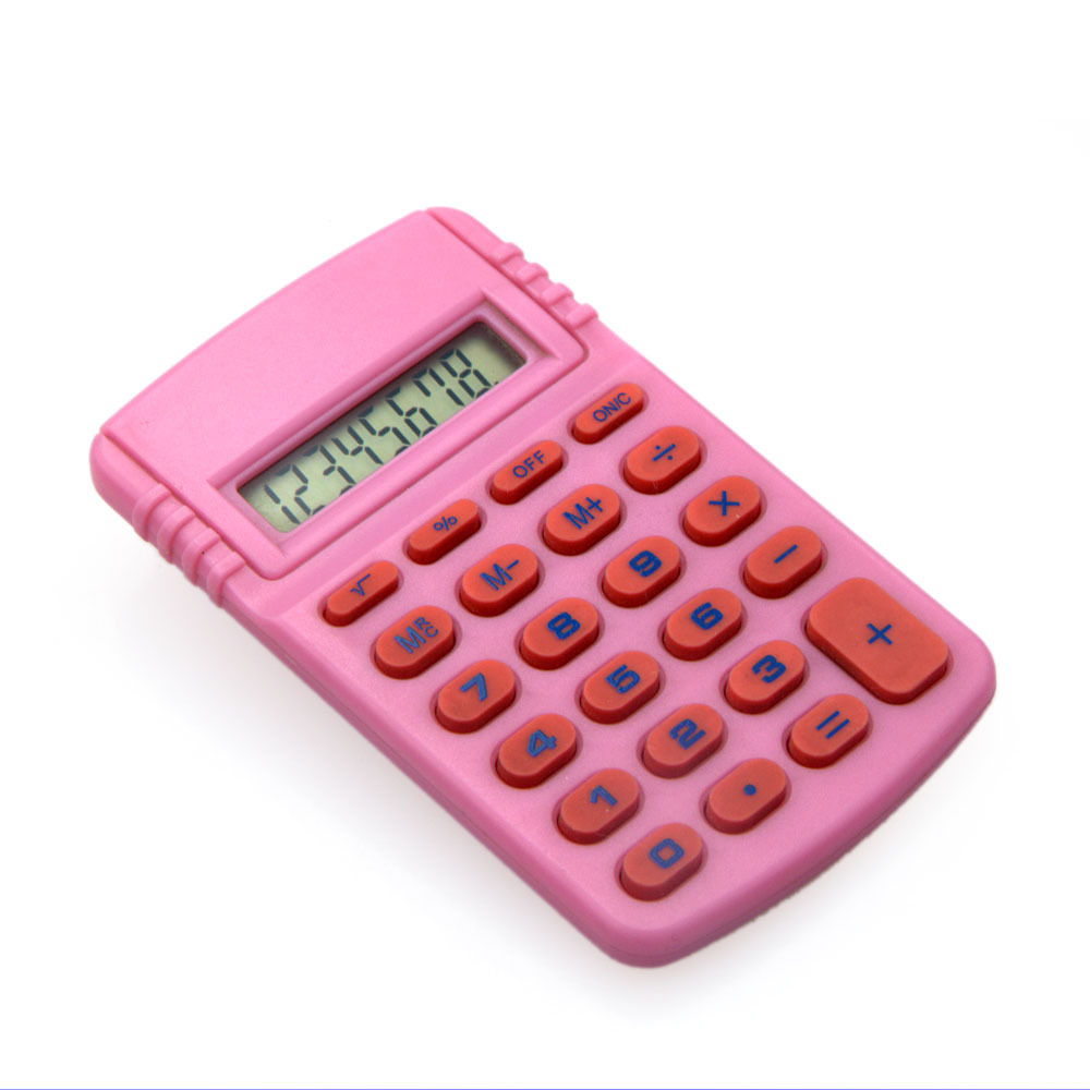 Lovely Pink 8 Digit Mini Size Calculator, electronic gift calculator