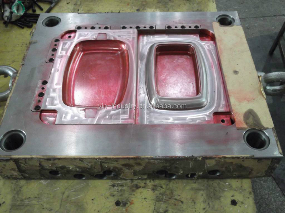Plastic Inject Mold CNC Maker Automatic Export Injection Plastic Mold for the food containers