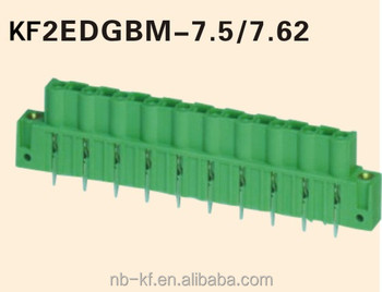 7.62 Pitch Plug-in Terminal Block Connector Green Color Type ...