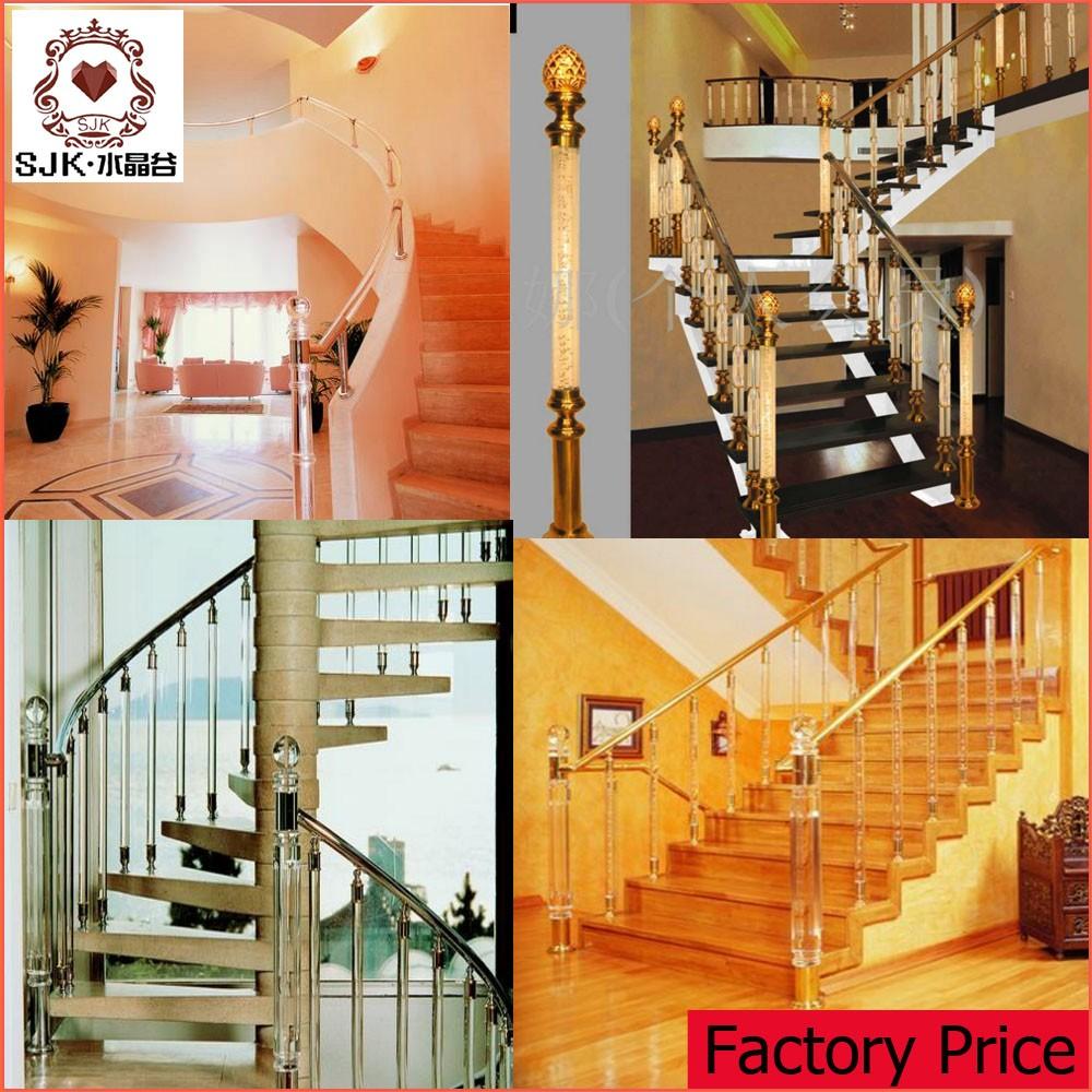 New Design Indoor Modern Baluster,Acrylic Stair Railing
