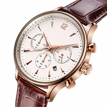 Mens Analog Quartz Watch Full Steel Waterproof Watches Fashion Casual Luxury Business Wristwatch rose Gold