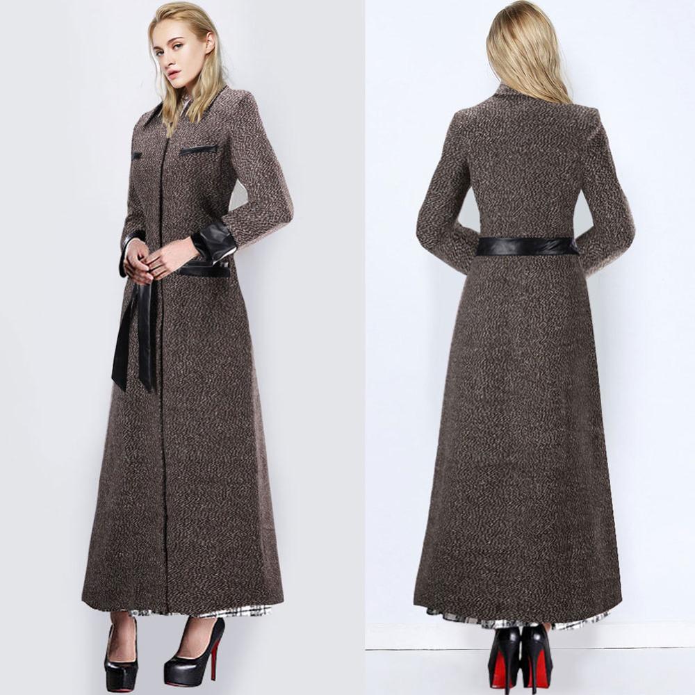 Full length wool coats for women