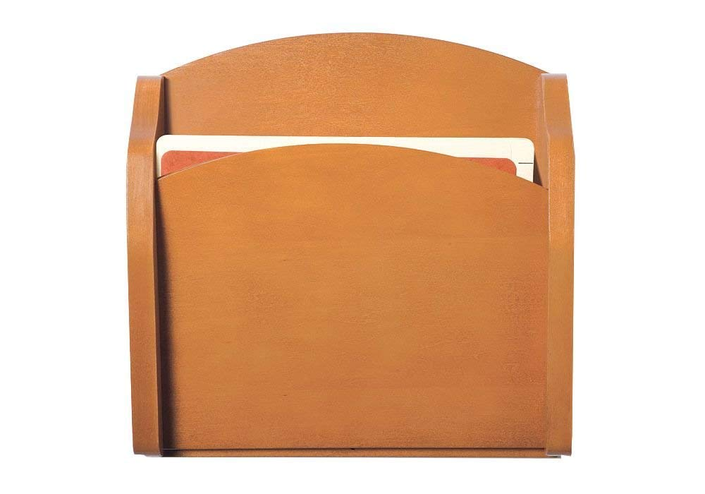 """Transitional One Pocket Chart Holder Dimensions: 15""""W x 3.75""""D x 15""""H Weight: 6 lbs Medium Finish"""