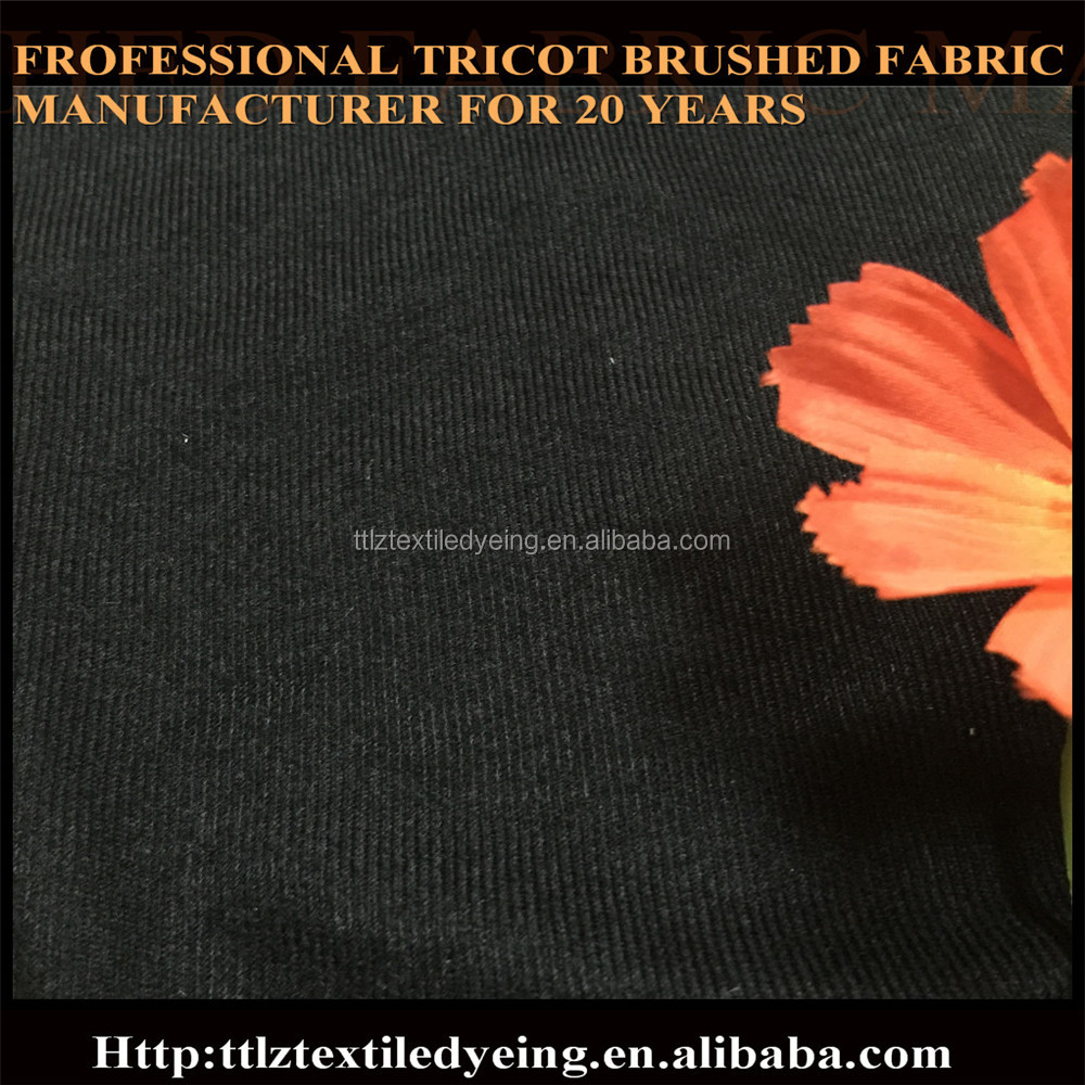 100%polyester export for Afria market plush tricot brushed fabric 110gsm