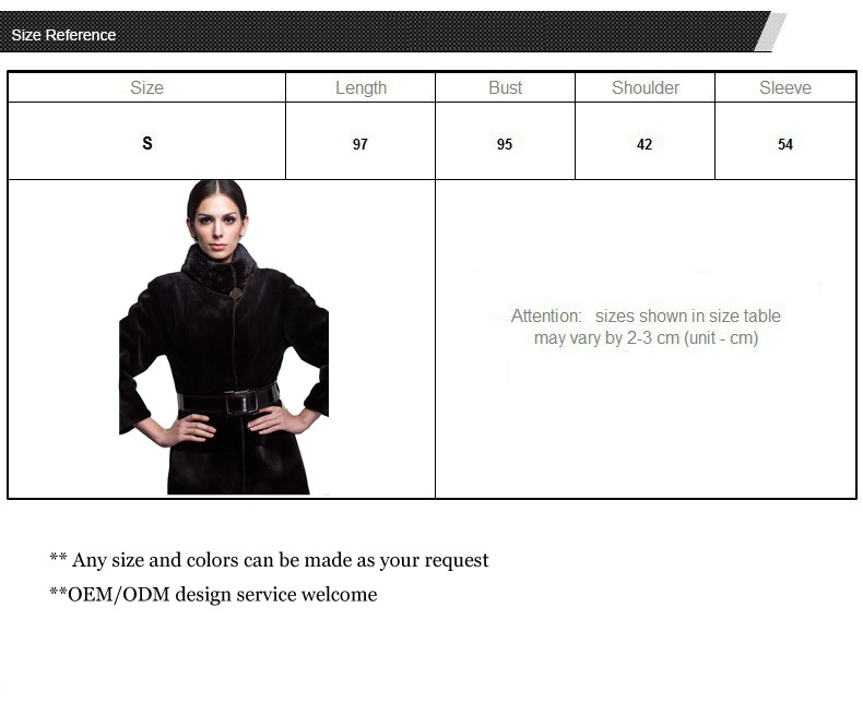 Wholesale New Products Slim Ladies Genuine Leather Fur Coat for Winter