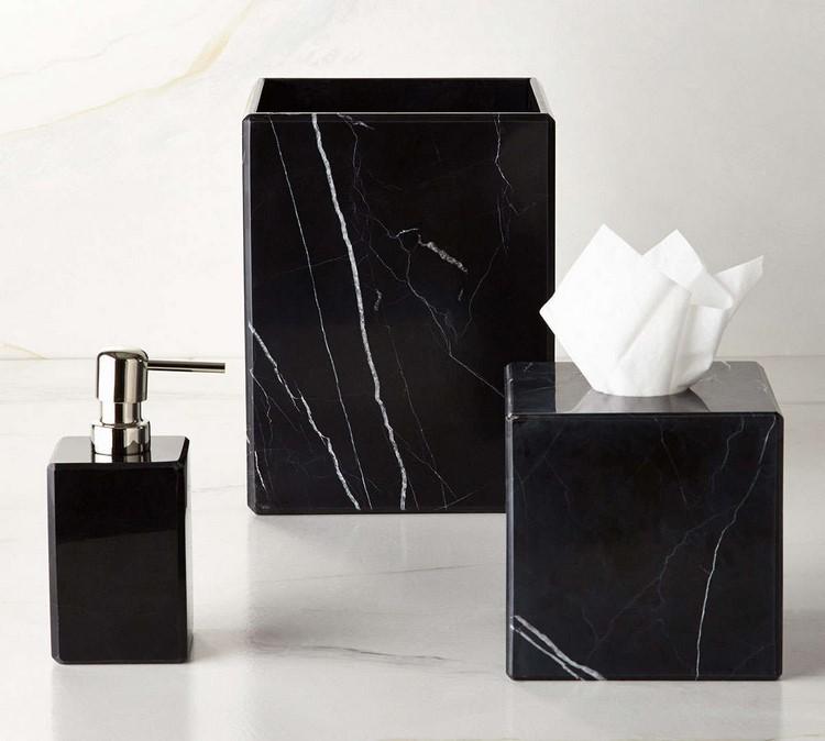 Negro ba o de m rmol ba o de cer mica accesorios de - Black marble bathroom accessories ...