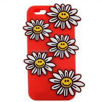 2017 New custom design funny chrysanthemum high quality Liquild Silicone cell phone cases for Iphone 6