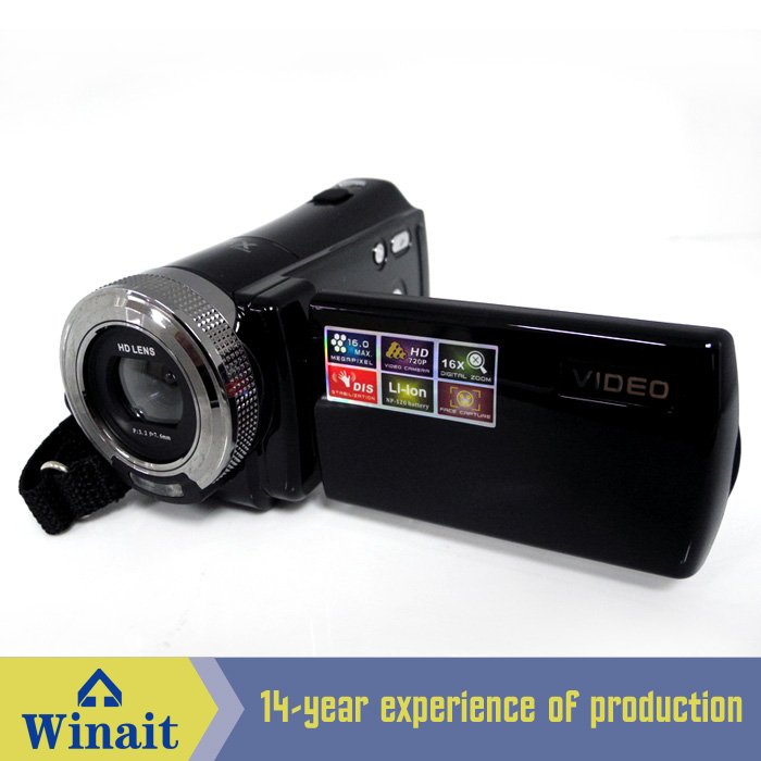 "2017 Winait Newest 16mp digital video camera DV-101 2.7""TFT LCD screen with 270D rotation Double image stabilization"