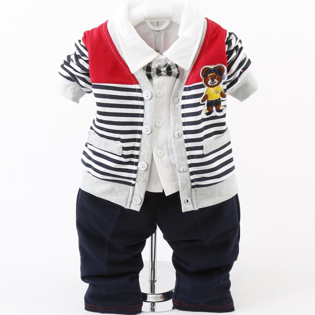 9ab1e0d55da81 2015 New 3pcs Baby Boy Clothing Set Autumn Baby Boy Clothes Set Hooded  Infant Clothing Toddler Boys Clothing