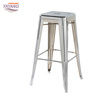 Foshan factory cheap vintage chair industrial metal bar stools commercial furniture