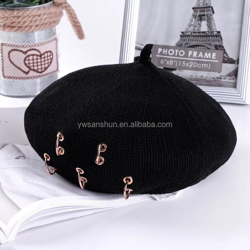 Fashion Spring Autumn Cool Women/ Lady/Famale Pumpkin Beret Cap Hat Wholesale