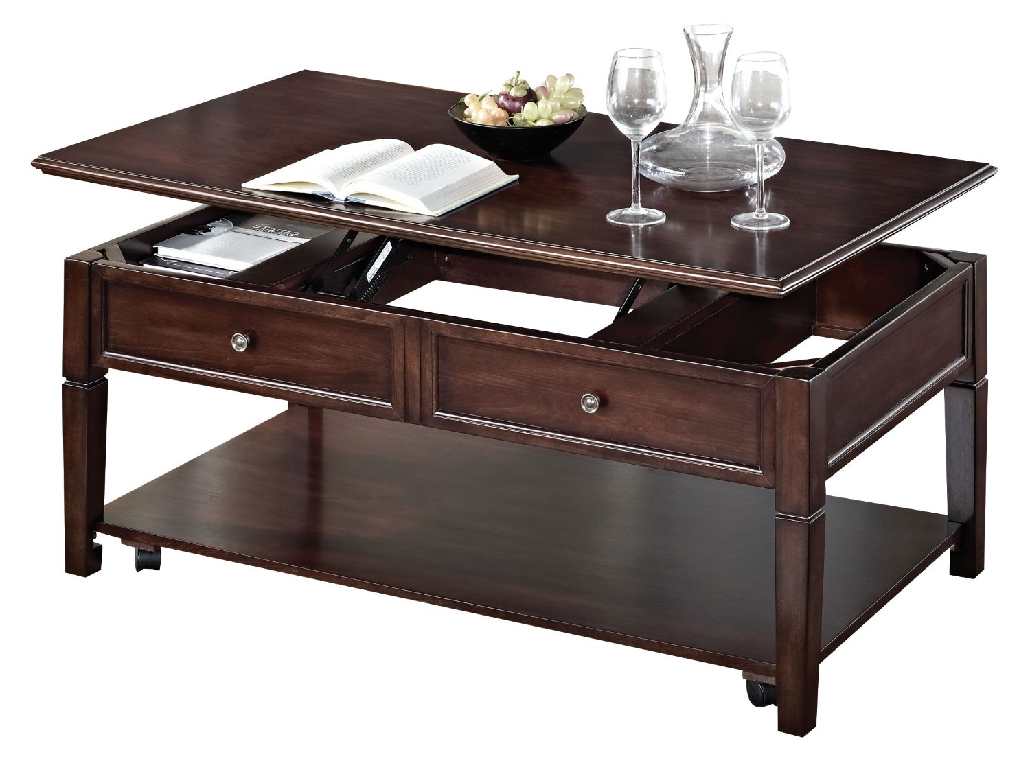 ACME Malachi Coffee Table with Lift Top, Walnut