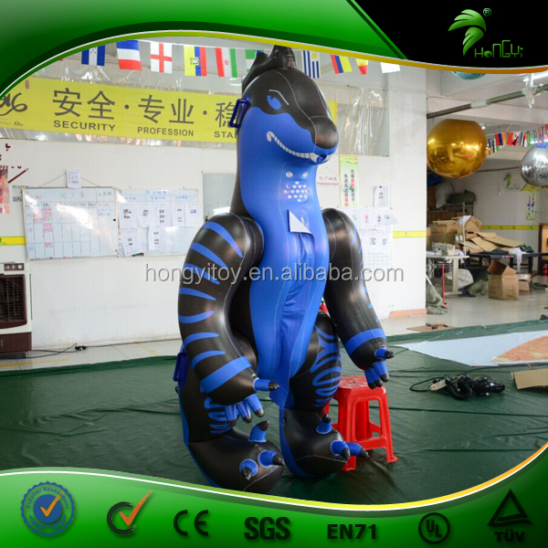 Hongyi New Design Blue Inflatable Costumes Lyjenny, Inflatable Dragon Suit/ Inflatable Suit for Men for Sale