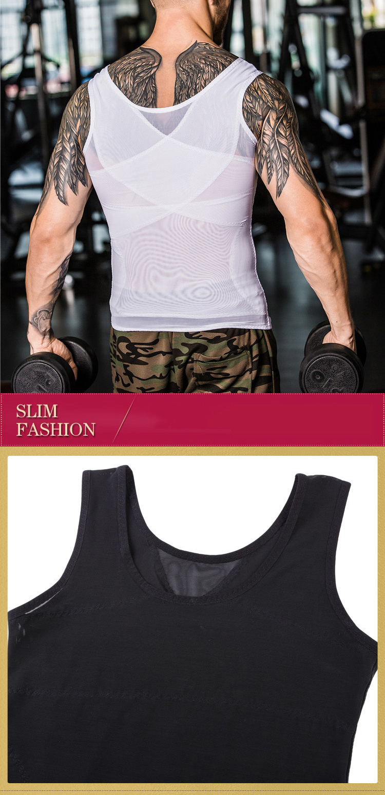 Hot Men Slimming Body Shaper Slim Lift Men Bodysuit Abdomenal Vest