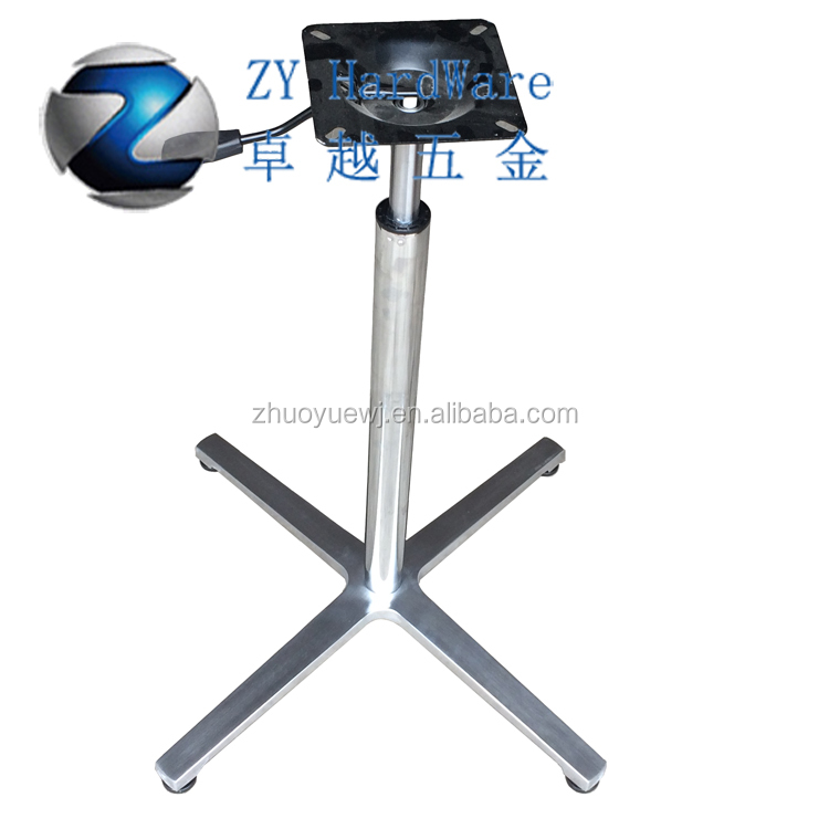 Factory Price Aluminum Metal Gas Lift Table Base Motorized Adjustable  Height Metal Table Legs Zy