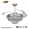2017 one of the most popular restaurant crystal fancy ceiling fan lights