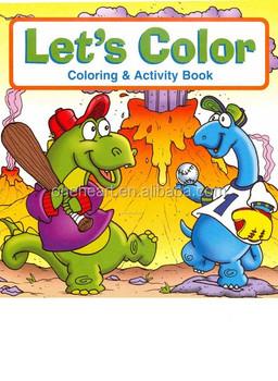 2014 new design cartoon coloring book u0026 activity book for kids