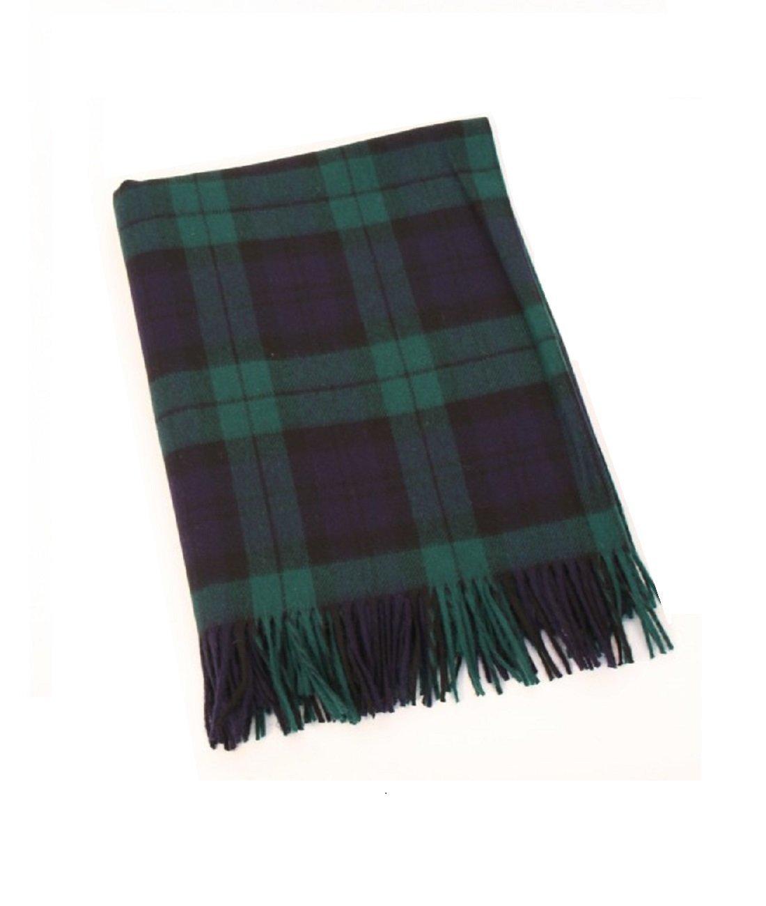 "55304db3b8a Get Quotations · John Hanly Irish Throw Blanket 100% Wool 54"" x 71""  Blackwatch Made in"