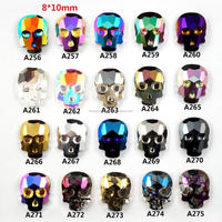Factory direct wholesale fashion new arrived skull nail charm 3D metal nail art decoration