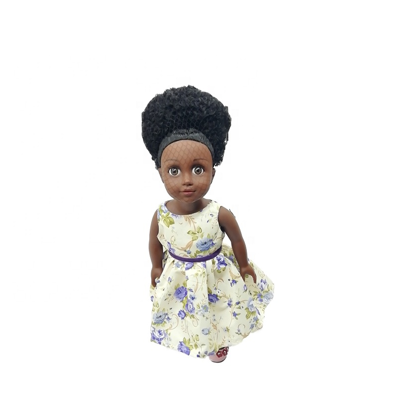 Life like 18 Inch African American vinyl black girl <strong>dolls</strong> with customized dress and hairstyle
