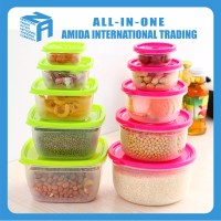 Popular Custom Printed Industrial Clear Plastic Food Disposable Container
