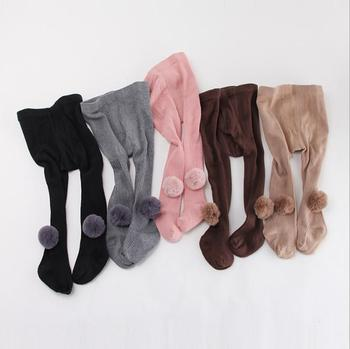 S12183B Kids Girls Leggings Autumn Winter Knitted Children Solid Color Legging Baby Toddler Casual Pants